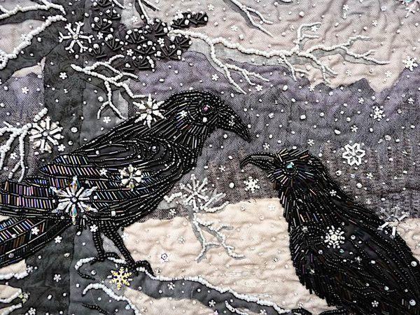 Зимние пейзажи в разных техниках. Идеи для вдохновения | Ярмарка Мастеров - ручная работа, handmade