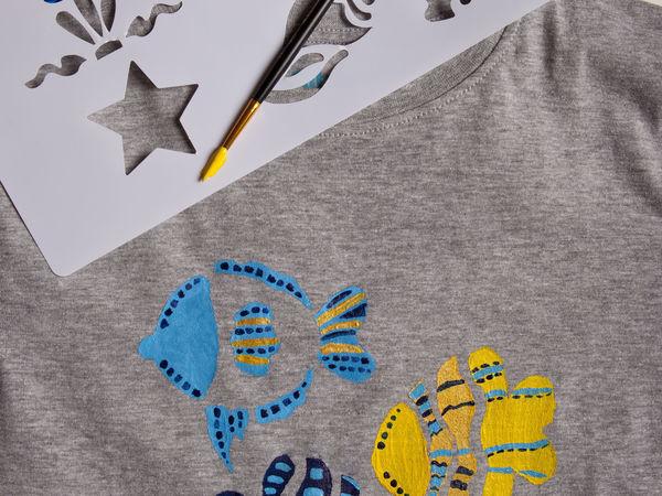 Расписываем футболку вместе с ребенком   Ярмарка Мастеров - ручная работа, handmade