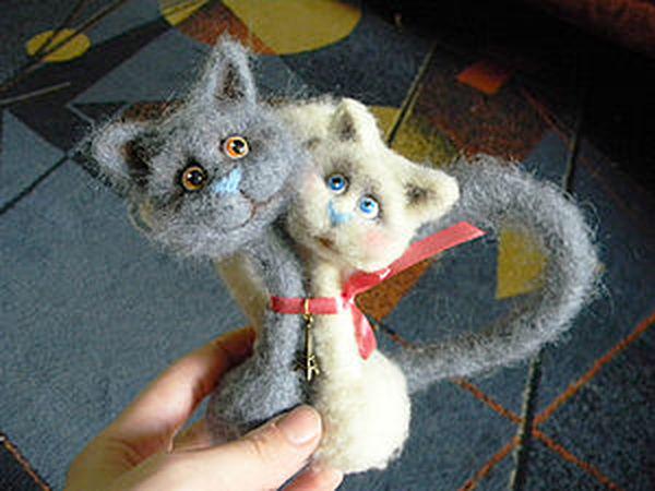 Мастер класс по созданию парных кошек | Ярмарка Мастеров - ручная работа, handmade