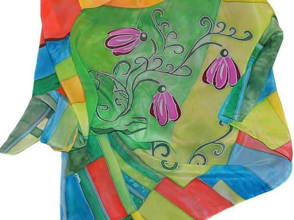 Шелковый платок батик. Новая работа | Ярмарка Мастеров - ручная работа, handmade
