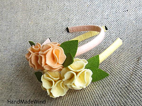 Делаем цветок из фетра | Ярмарка Мастеров - ручная работа, handmade