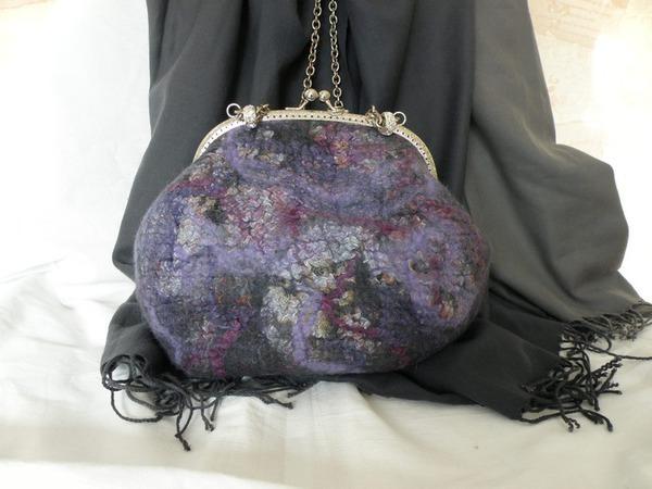 Валяем сумочку «Игра цвета» | Ярмарка Мастеров - ручная работа, handmade