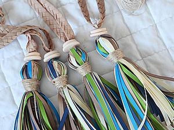 Как из репсовых лент сделать оригинальные кисти для штор | Ярмарка Мастеров - ручная работа, handmade