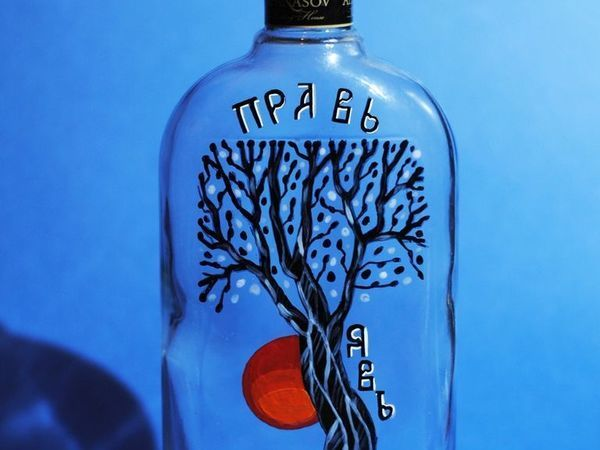 Painting a Bottle with The Tree of Life Image | Livemaster - handmade