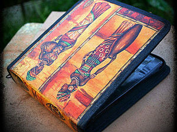 Декупаж на ткани: чехол для дисков - подарок за 5 минут! | Ярмарка Мастеров - ручная работа, handmade