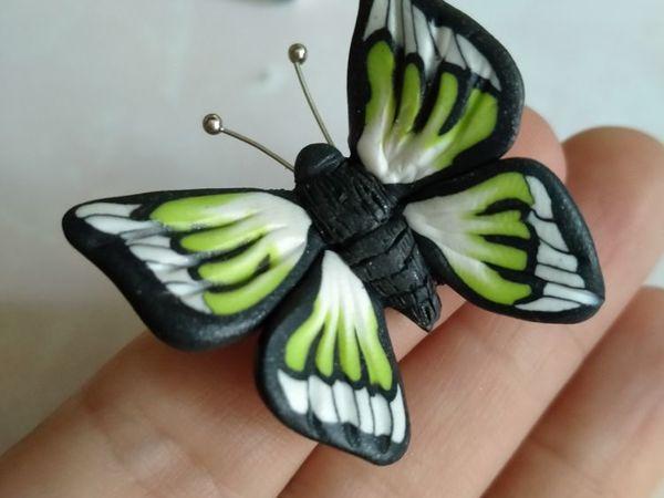 Лепим простую бабочку из полимерной глины или пластилина   Ярмарка Мастеров - ручная работа, handmade