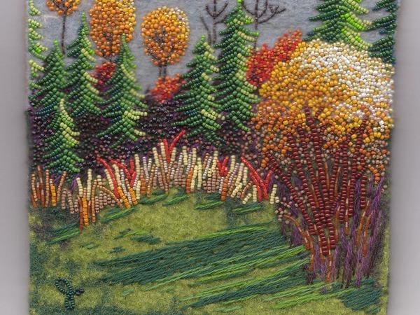 Природные мотивы в вышивке бисером по фетру от Joe Wood | Ярмарка Мастеров - ручная работа, handmade