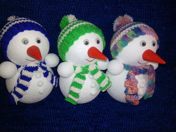 Мастерим снеговика своими руками | Ярмарка Мастеров - ручная работа, handmade