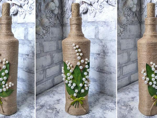 Великолепный декор бутылки своими руками: видео мастер-класс | Ярмарка Мастеров - ручная работа, handmade