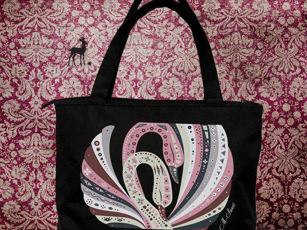 Практичная большая сумка с интересным узором   Ярмарка Мастеров - ручная работа, handmade