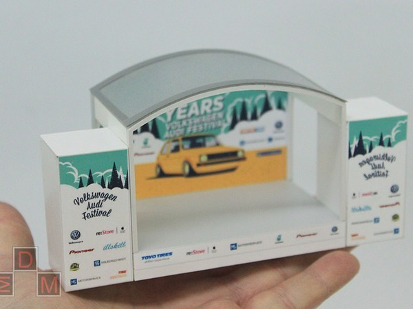 Макет автофестиваля «VW&Audi Festival» | Ярмарка Мастеров - ручная работа, handmade