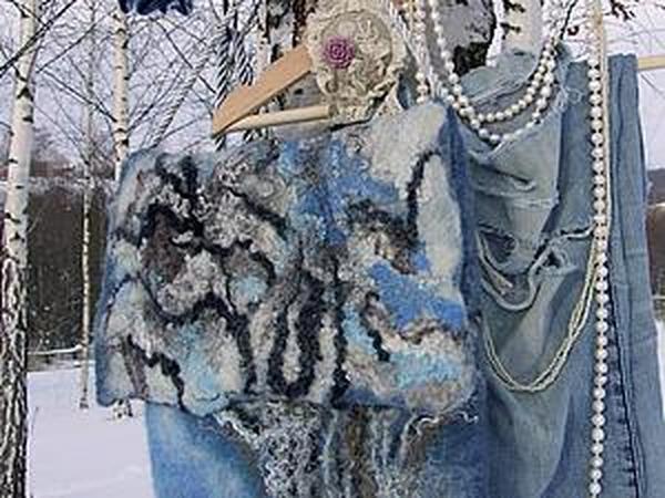Зимняя небесная джинса...   Ярмарка Мастеров - ручная работа, handmade