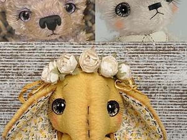 Мастер-класс по оформлению и росписи глазок для мишек Тедди | Ярмарка Мастеров - ручная работа, handmade