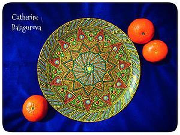 Как правильно загрунтовать и покрасить стеклянную тарелку для точечной росписи | Ярмарка Мастеров - ручная работа, handmade