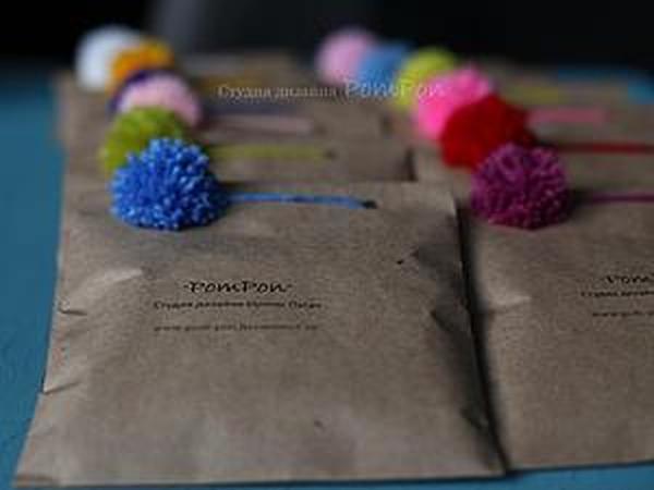 Делаем легкую и веселую упаковку с помпоном   Ярмарка Мастеров - ручная работа, handmade