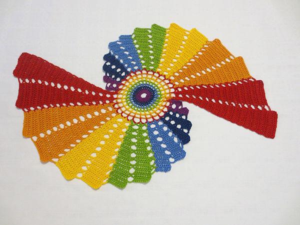 Новая Салфетка Чудесная Радуга   Ярмарка Мастеров - ручная работа, handmade