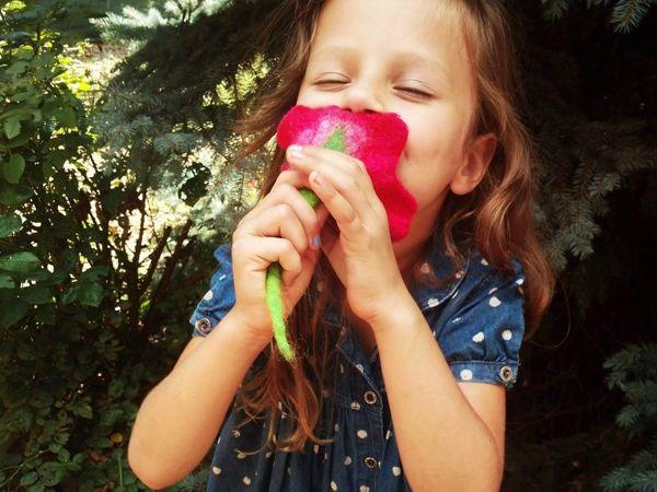 Делаем самый простой валяный цветок | Ярмарка Мастеров - ручная работа, handmade