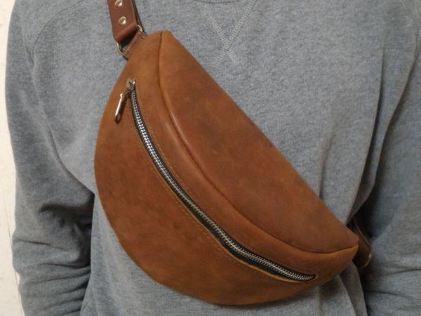854ba968d2d2 Шьем сумку на пояс из натуральной кожи   Ярмарка Мастеров - ручная работа,  handmade