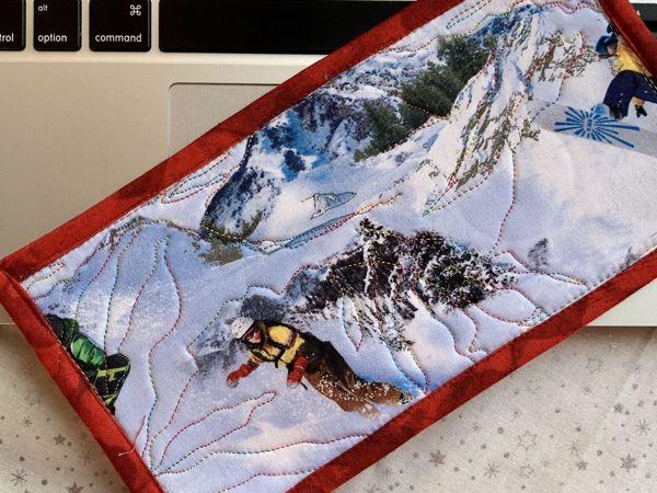 Как сделать новогодний подарок? Текстильная открытка своими руками. Часть 5 | Ярмарка Мастеров - ручная работа, handmade