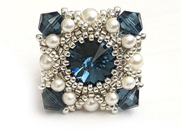 Создаем кольцо из бисера и кристаллов Swarovski  «Реноме» | Ярмарка Мастеров - ручная работа, handmade