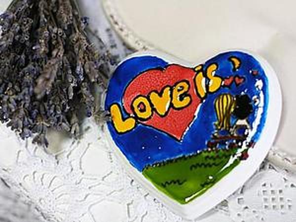 Процесс росписи керамического сердечка   Ярмарка Мастеров - ручная работа, handmade