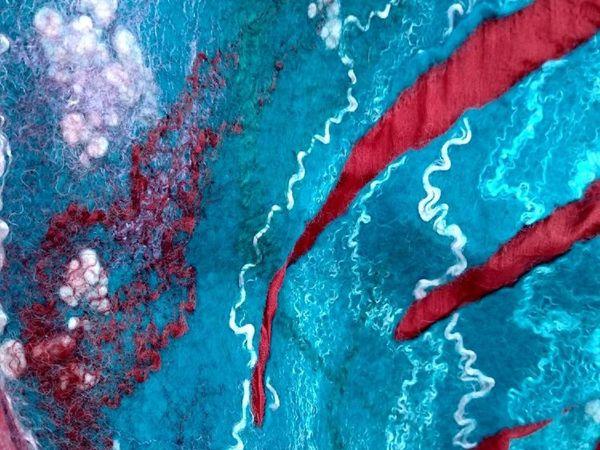 Фантазийный валяный палантин   Ярмарка Мастеров - ручная работа, handmade