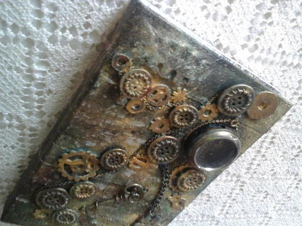 Ежедневник в стиле стимпанк   Ярмарка Мастеров - ручная работа, handmade