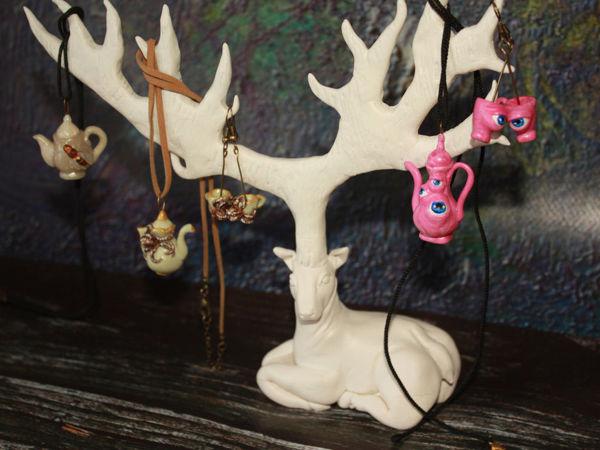 Создаем из полимерной глины подставку для украшений в виде оленя   Ярмарка Мастеров - ручная работа, handmade