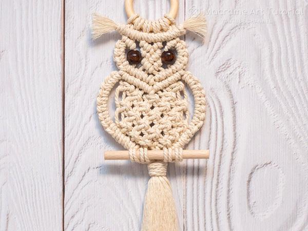 Как сделать сову в технике макраме | Ярмарка Мастеров - ручная работа, handmade