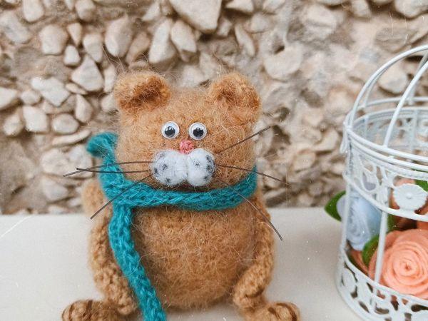 Вяжем кота крючком | Ярмарка Мастеров - ручная работа, handmade