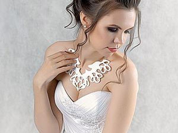 Создаем прекрасное украшение из фетра для невесты «Снежная королева» | Ярмарка Мастеров - ручная работа, handmade