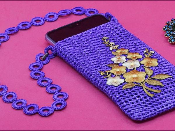 Вяжем чехол для смартфона крючком. Часть 2   Ярмарка Мастеров - ручная работа, handmade