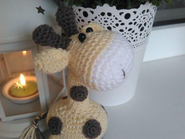 Видеоурок: вяжем крючком игрушку Жирафчик. 1 часть | Ярмарка Мастеров - ручная работа, handmade