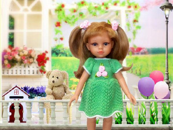 b2296293036 Вяжем платье для куклы Паола Рейна – Ярмарка Мастеров