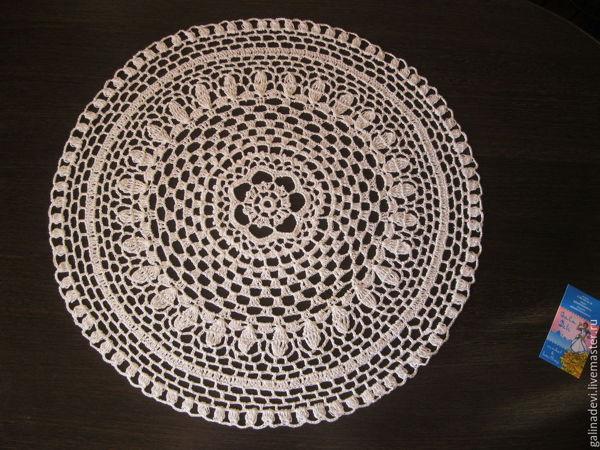 Мастер-класс по вязанию крючком -ажурные салфетки | Ярмарка Мастеров - ручная работа, handmade