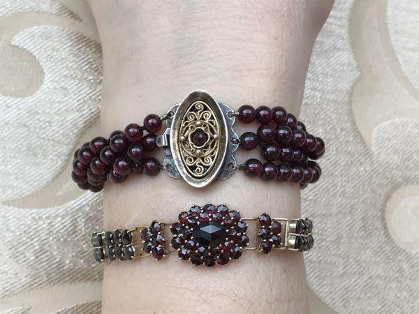 Гранатовые браслеты | Ярмарка Мастеров - ручная работа, handmade