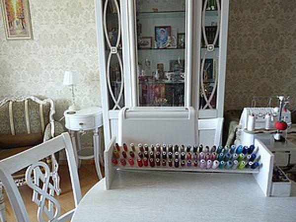 How to Make a Shelf for Spools of Thread   Livemaster - handmade