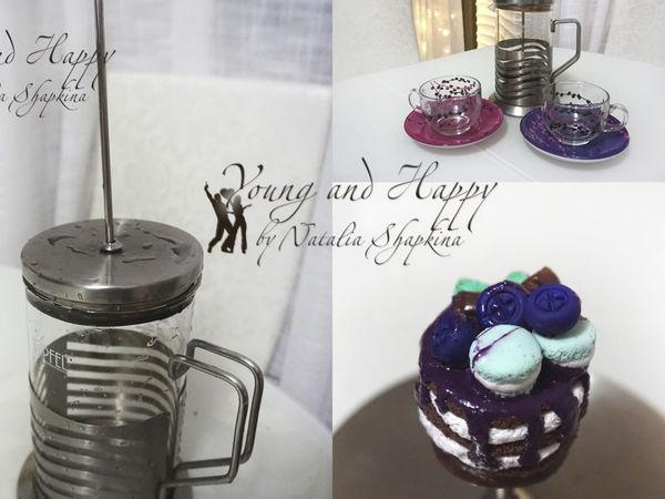 Лепим ручку-тортик из полимерной глины на заварочный чайник | Ярмарка Мастеров - ручная работа, handmade