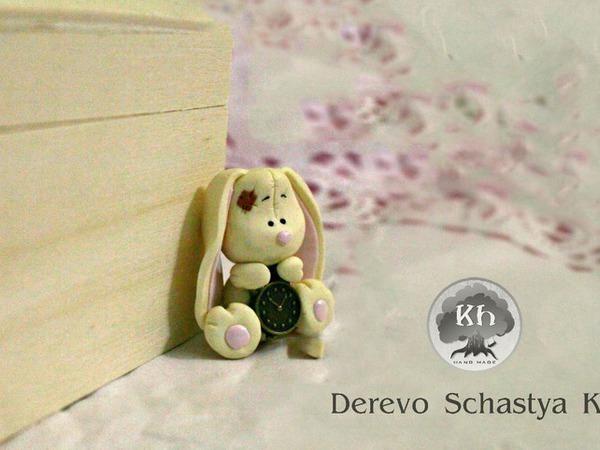 Видео мастер-класс: зайчик из полимерной глины   Ярмарка Мастеров - ручная работа, handmade