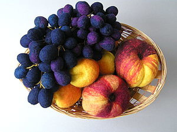 Создаем гроздь винограда в технике сухого валяния   Ярмарка Мастеров - ручная работа, handmade