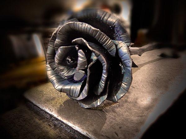 Положив встречу нового года на наковальню, я выковал прекрасную розу | Ярмарка Мастеров - ручная работа, handmade