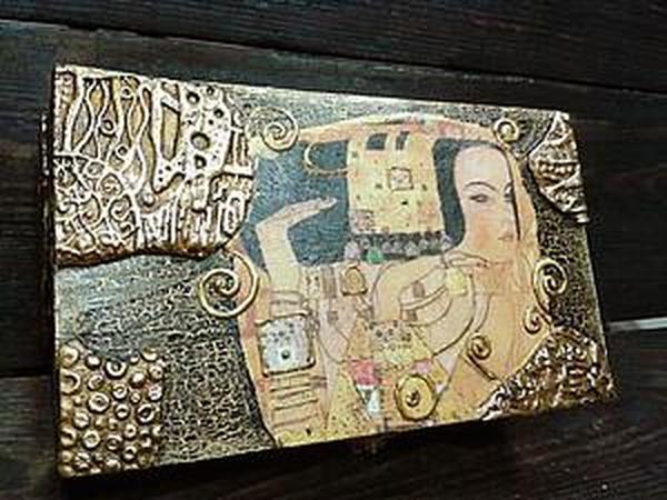 Шкатулка  по мотивам работ Г.Климта  - авторский МК Натальи Полех! | Ярмарка Мастеров - ручная работа, handmade