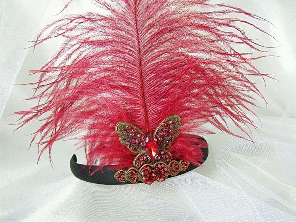 Анонс! Ободок с пером в стиле Гэтсби от Olga Gardenia | Ярмарка Мастеров - ручная работа, handmade
