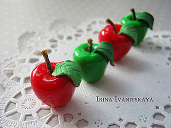 Quick and Easy: Apples of Polymer Clay | Livemaster - handmade