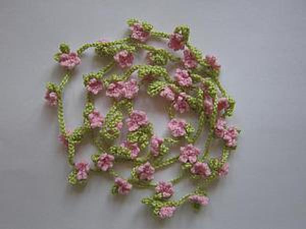 Как связать крючком украшение-пояс «Сакура»   Ярмарка Мастеров - ручная работа, handmade