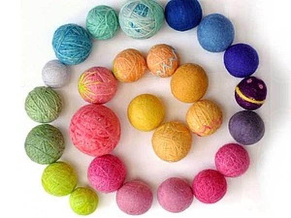 Шерстяные мячики, мастер класс | Ярмарка Мастеров - ручная работа, handmade