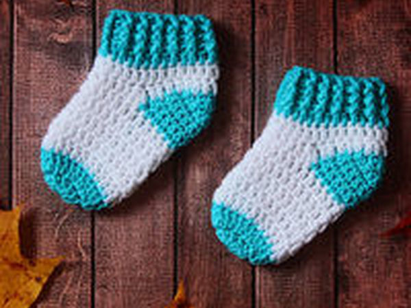 видеоурок вяжем крючком носочки для новорожденных мастер класс