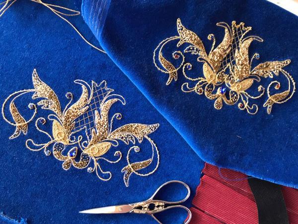 Основы золотного шитья   Ярмарка Мастеров - ручная работа, handmade
