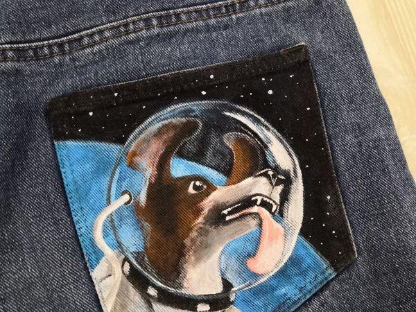Мастер-класс: роспись кармана джинсов | Ярмарка Мастеров - ручная работа, handmade