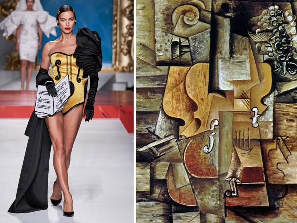 Кубизм Пикассо ворвался на подиум: 27 нарядов из новой коллекции Moschino Ready-to-Wear 2020 | Ярмарка Мастеров - ручная работа, handmade